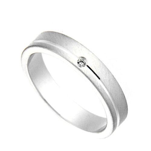 Freundschaftsring Silber 925 Zirkonia Breite 4 mm Weite 60
