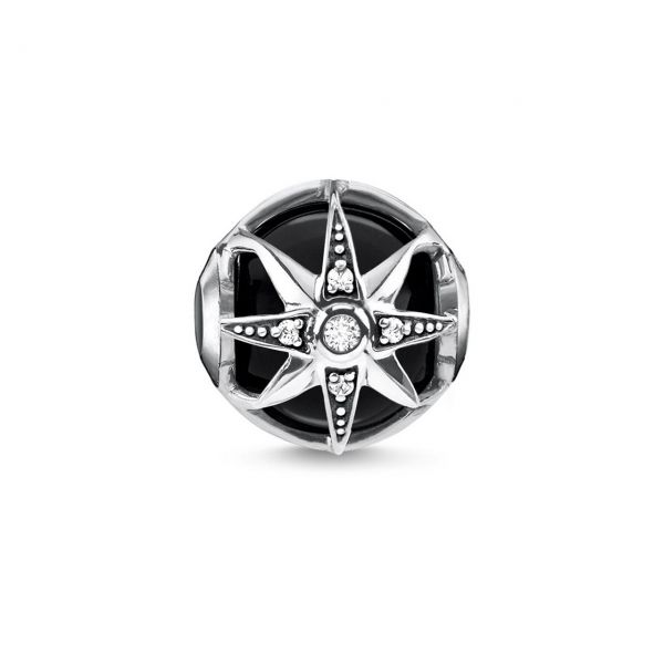 Thomas Sabo Karma Bead Royalty Stern schwarz K0308-641-11