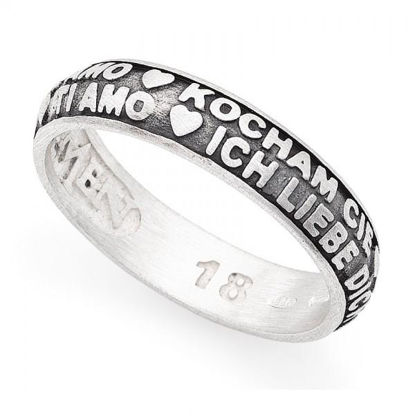 AMEN Ring Silber Gr. 58 ATAN-18