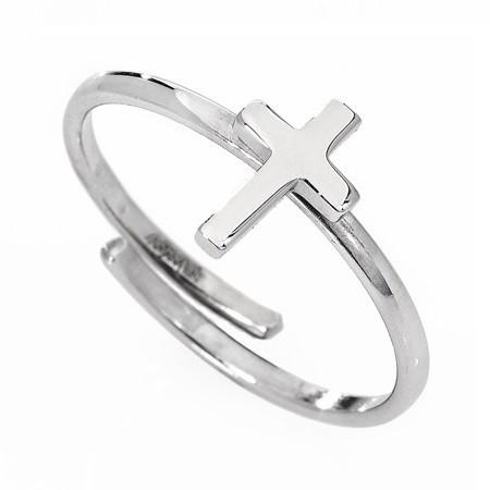 AMEN Ring Silber Kreuz AFCB