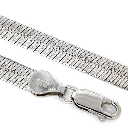 Kette Silber 925 rhodiniert 42 cm