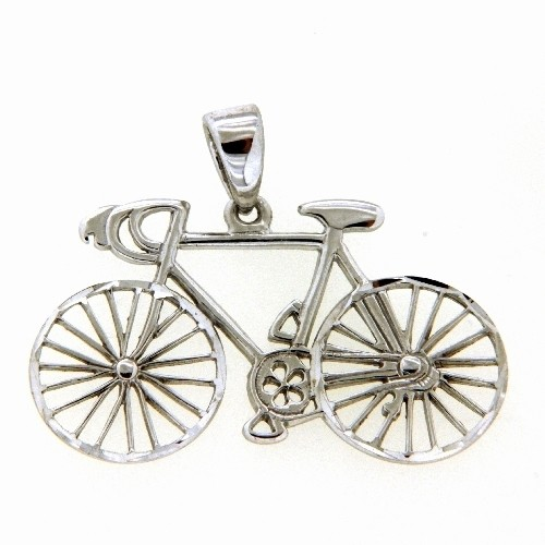 Anhänger Silber 925 rhodiniert Fahrrad