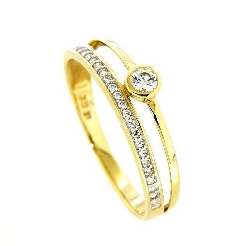 Ring Gold 333 Zirkonia Weite 60
