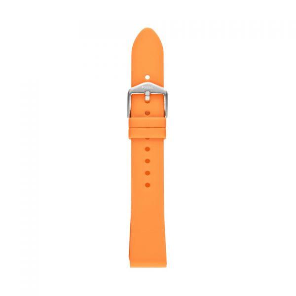 FOSSIL Uhrarmband Silikon orange S181400