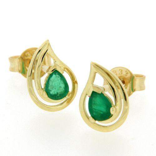 Ohrstecker Gold 333 Smaragd