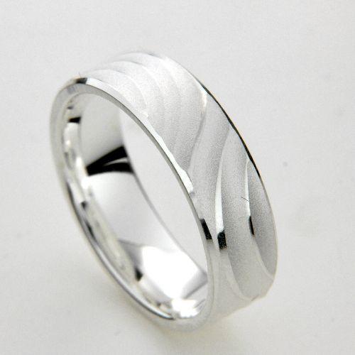 Freundschaftsring Silber 925 Breite 6 mm Weite 62