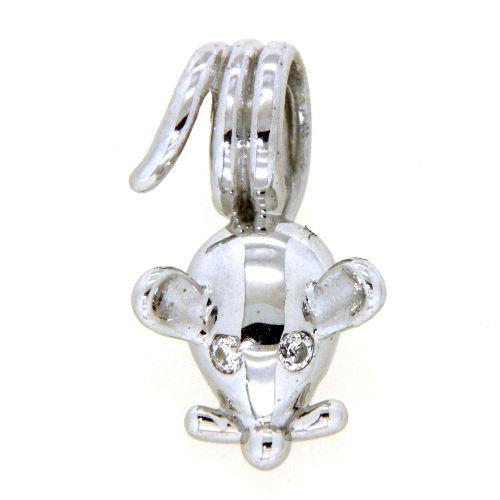 Anhänger Silber 925 rhodiniert Maus