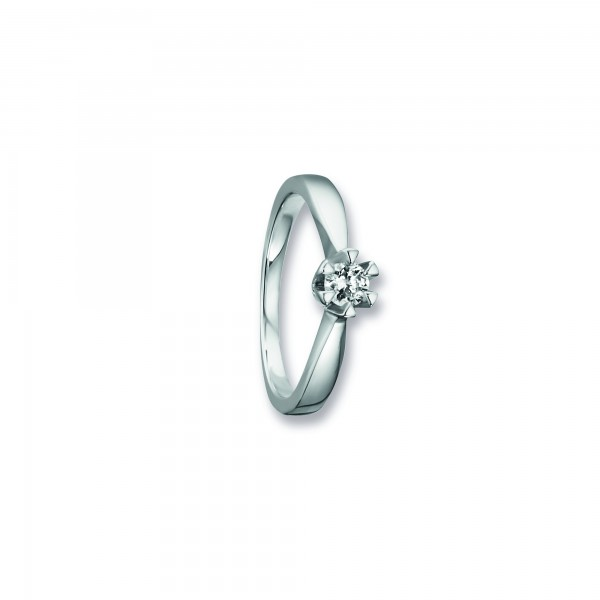 Ring Krappe Zirkonia 925 Silber rhodiniert Größe 50