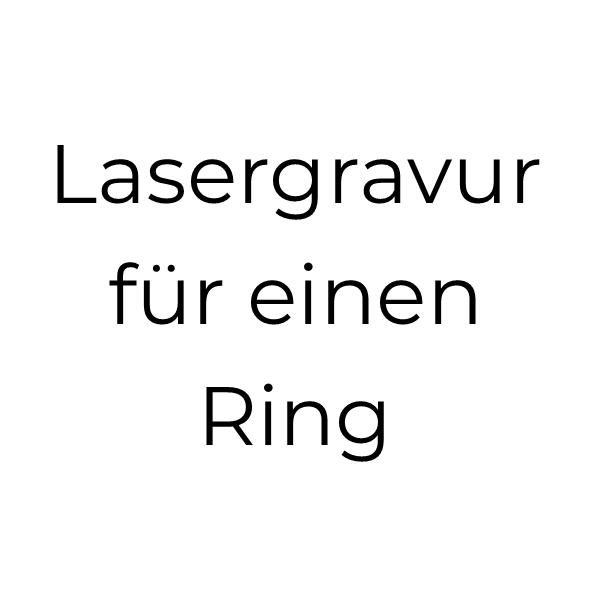 Lasergravur für 1 Titanring (bis 2 Wörter)