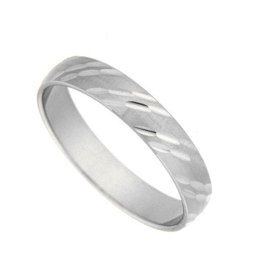 Freundschaftsring Silber 925 rhodiniert Breite 4 mm Weite 59