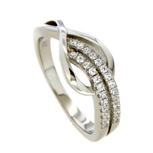 Ring Silber 925 rhodiniert Zirkonia Weite 54