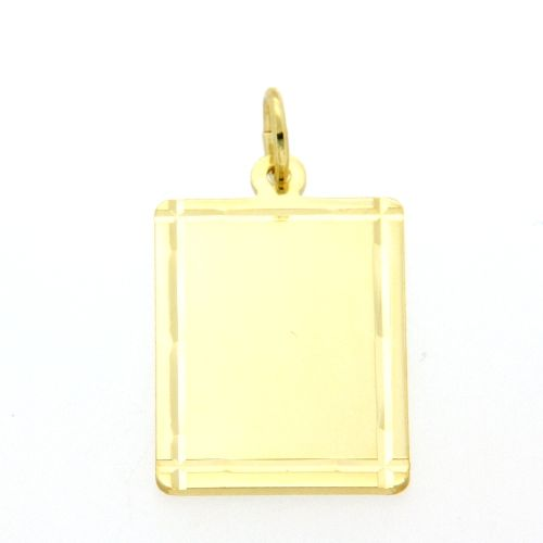 Gravurplatte Gold 333 15mm x 20mm