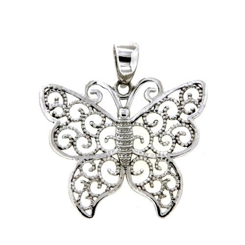 Anhänger Silber 925 rhodiniert Schmetterling