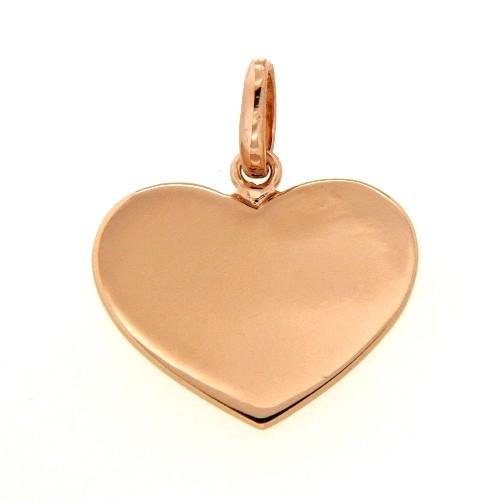 Gravurplatte Silber 925 rosé vergoldet Herzform