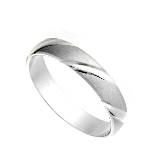 Freundschaftsring Silber 925 Breite 4 mm Weite 64