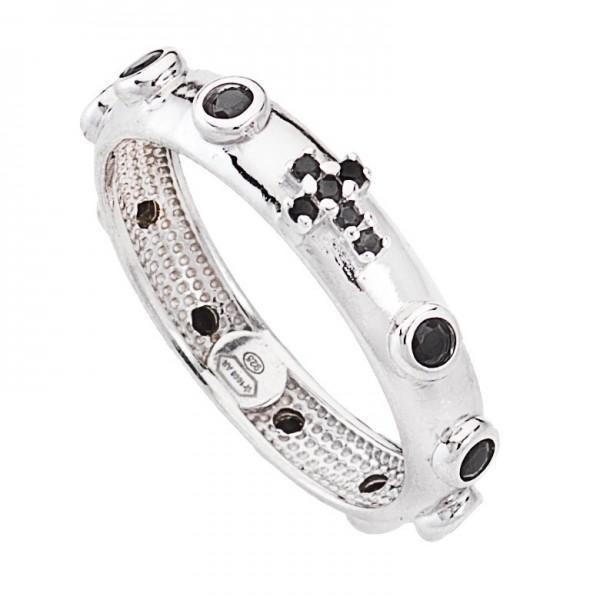 AMEN Ring Silber Kreuz Gr. 64 AROBN-24