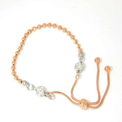 Armband Silber 925 rhodiniert & rosé vergoldet