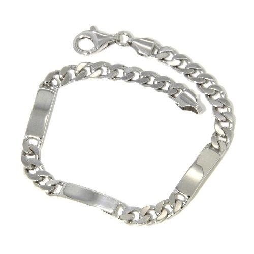 Idenditäts-Armband Silber 925 rhodiniert 19 cm