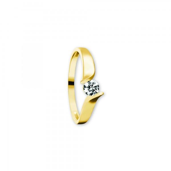 Ring Zirkonia 333 Gelbgold Größe 56