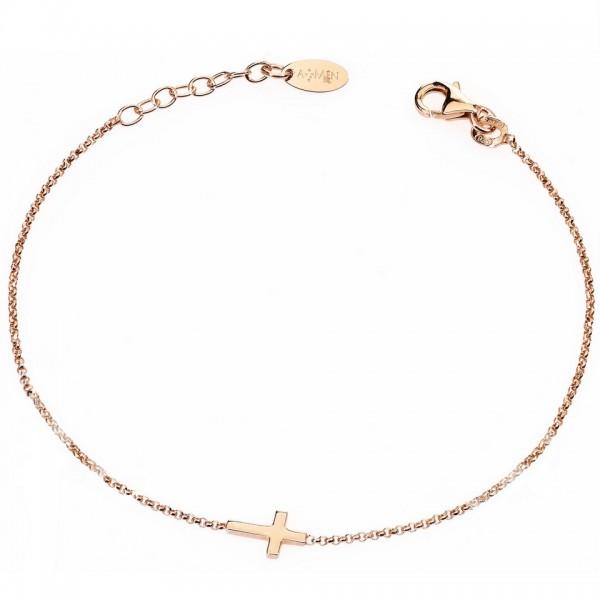 AMEN Armband 17 + 2 cm Silber BRCR