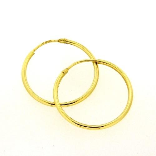 Drahtcreolen Gold 333 25 mm x 1,5 mm