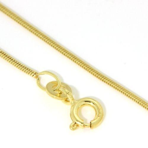 Schlangenkette (0,9mm) Gold 333 45 cm