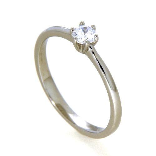 Ring Silber 925 rhodiniert Zirkonia Weite 48