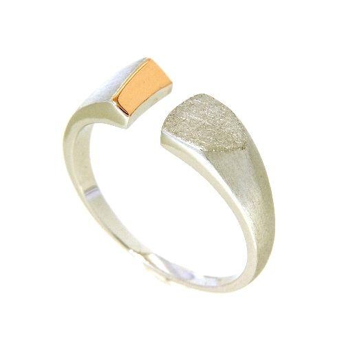 Ring Silber 925 rhodiniert & rosé vergoldet Weite 60