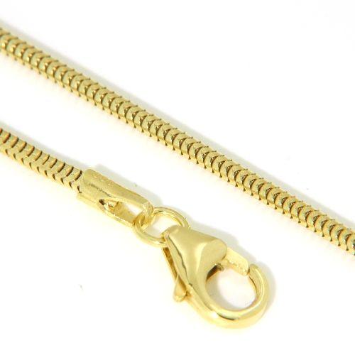 Schlangenkette Silber 333 1,4 mm rund 42 cm