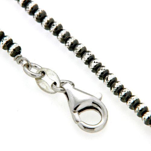 Kette Silber 925 schwarz rhodiniert