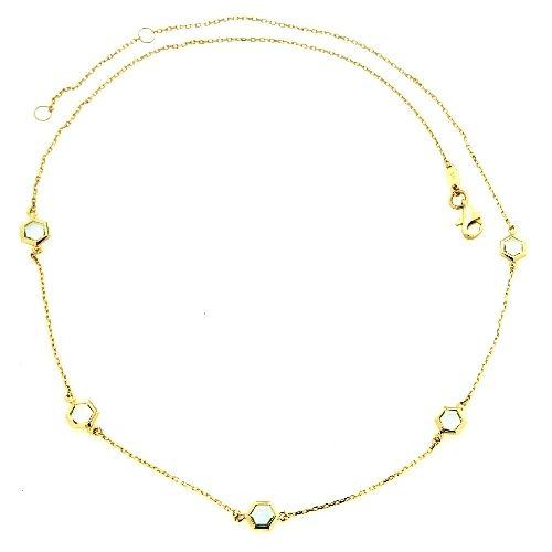 Collier Gold 333 45-42 cm Blautopas