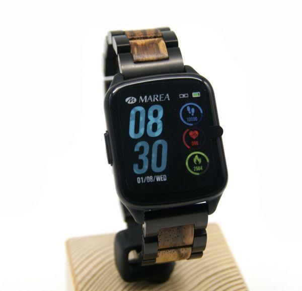 MAREA Smart Watch B59001/1 mit LAiMER Holzarmband UB89