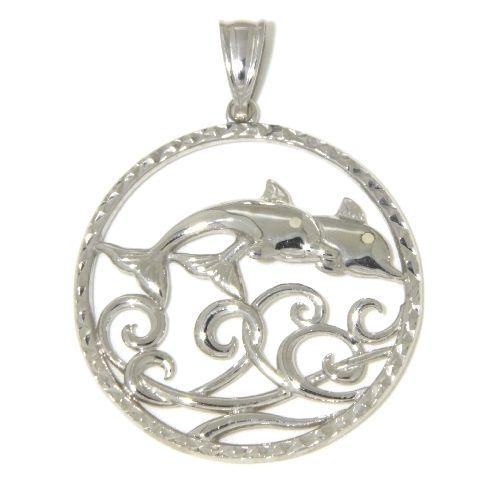 Anhänger Silber 925 rhodiniert Delfine
