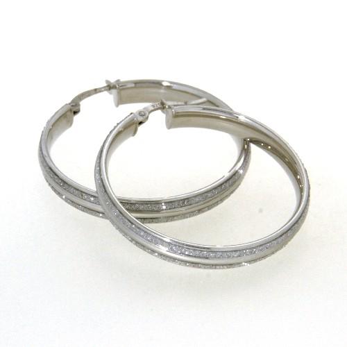 Creolen Silber 925 rhodiniert