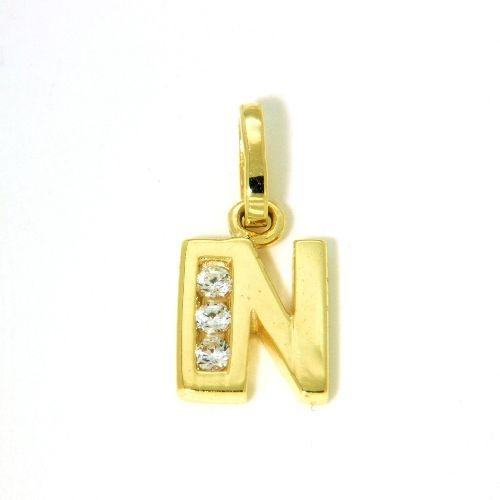 Buchstaben-Anhänger N Gold 333