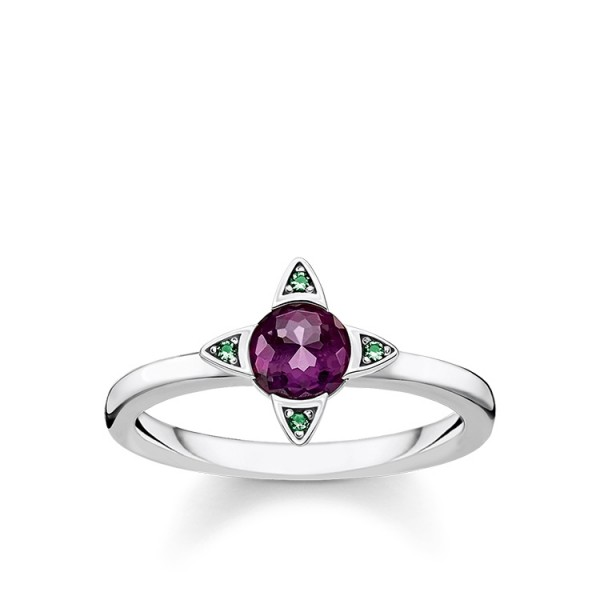 Thomas Sabo Ring farbige Steine Größe 48 TR2263-667-13-48