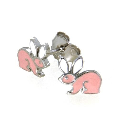 Ohrstecker Silber 925 rhodiniert Hase