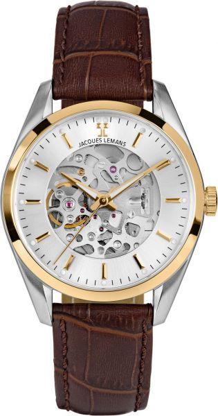 Jacques Lemans Herren-Armbanduhr Derby Automatic 1-2087D
