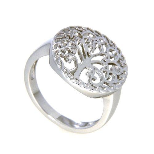 Ring Silber 925 rhodiniert Lebensbaum Weite 60