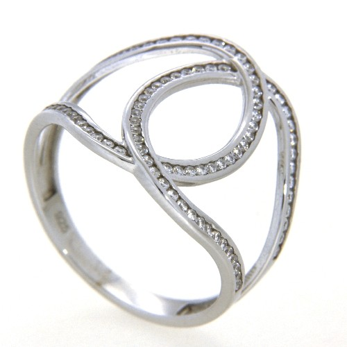 Ring Silber 925 rhodiniert Weite 64