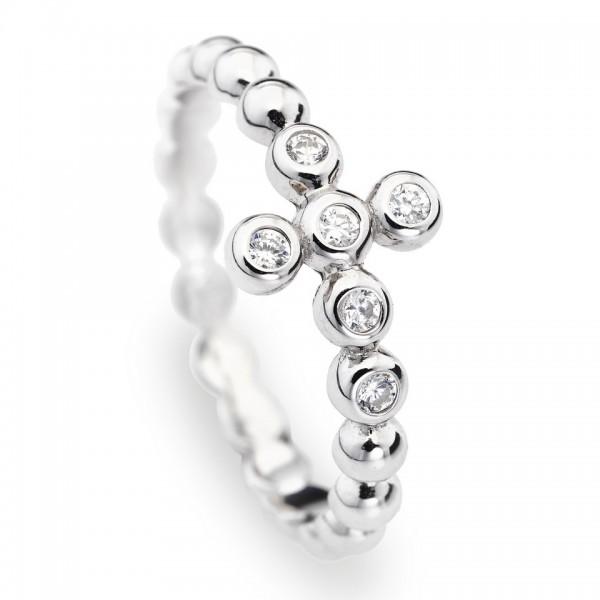 AMEN Ring Silber Kreuz Gr. 58 ABOBB-18