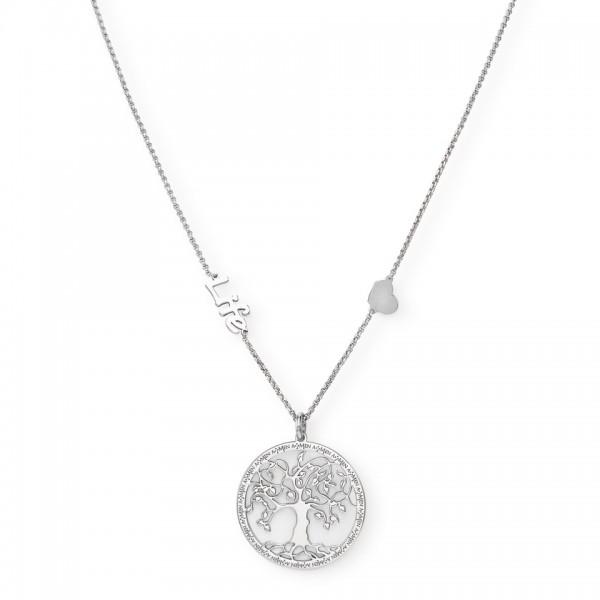 AMEN Kette Lebensbaum 40 + 4 cm Silber CLIFEB2