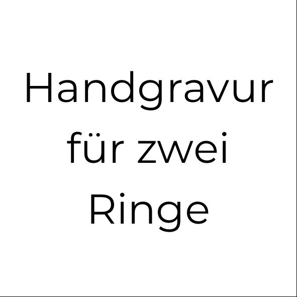 Handgravur für 2 Silberringe (bis jeweils 12 Zeichen)