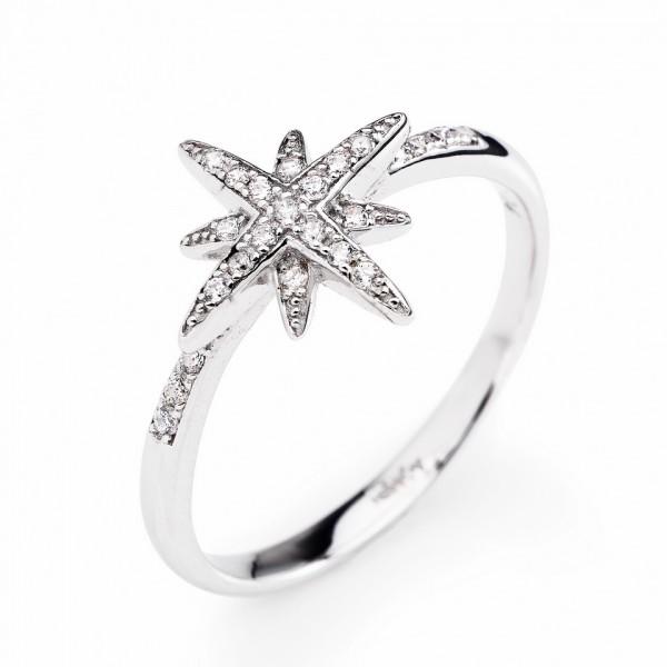AMEN Ring Silber Stern Gr. 50 RCDS-10