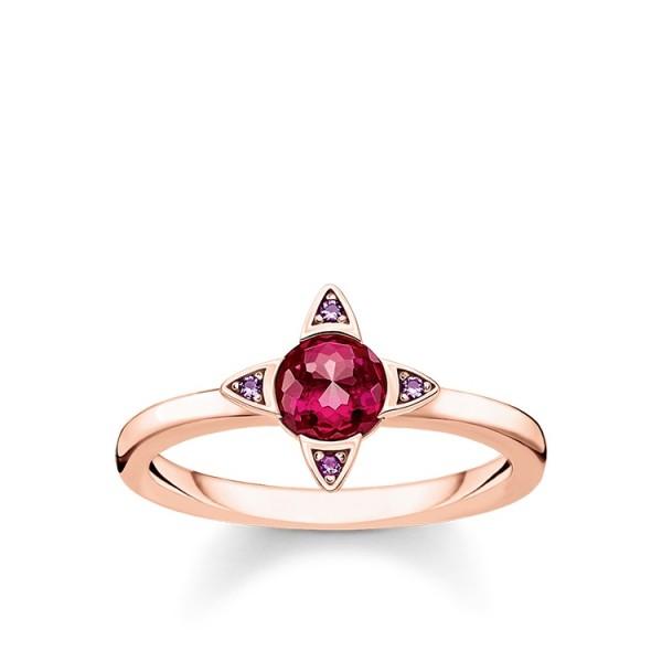 Thomas Sabo Ring farbige Steine rosé Größe 48 TR2263-540-10-48