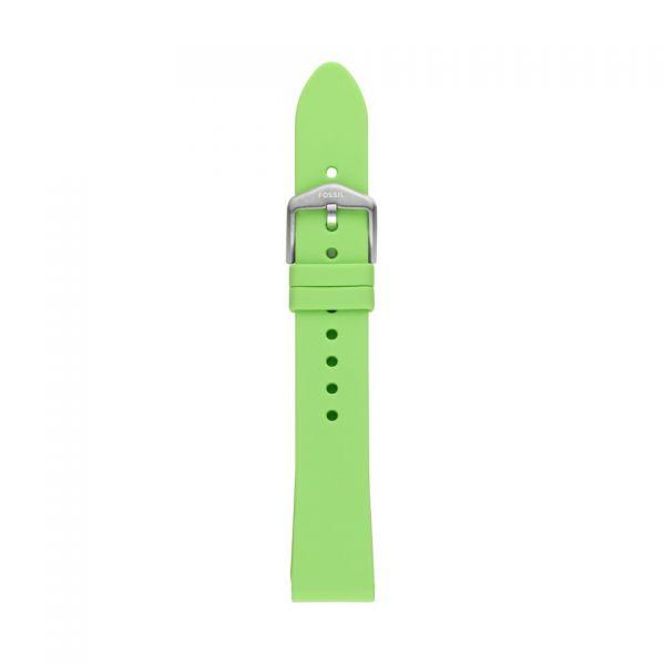 FOSSIL Uhrarmband Silikon grün S181404