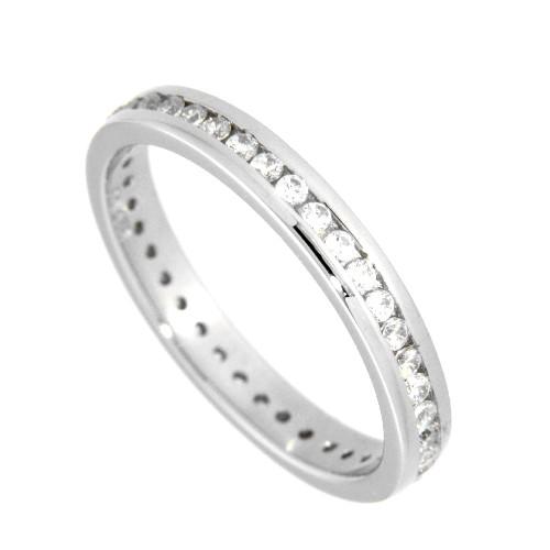 Ring (Memoire) Silber 925 rhodiniert Weite 60