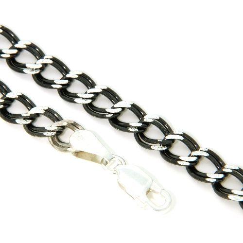 Armband Silber 925 schwarz rhodiniert 19 cm