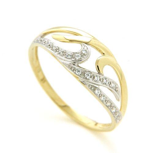 Ring Gold 333 bicolor Zirkonia Weite 57