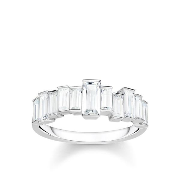 Thomas Sabo Ring weiße Steine Größe 48 TR2269-051-14-48